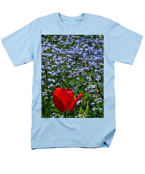 Red In Blue2 Men's T-Shirt  (Regular Fit) by John Topman
