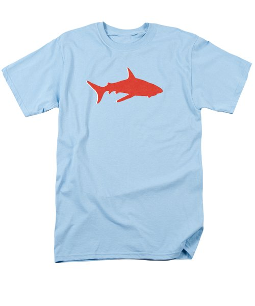 Men's T-Shirt  (Regular Fit) featuring the mixed media Red Shark by Linda Woods
