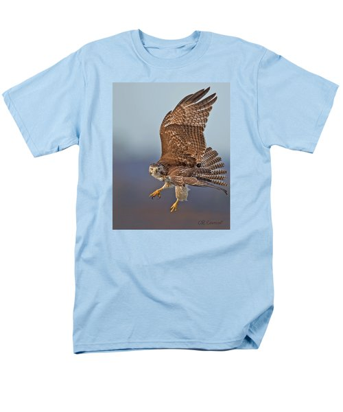 Red-tailed Hawk In Flight Men's T-Shirt  (Regular Fit) by CR  Courson