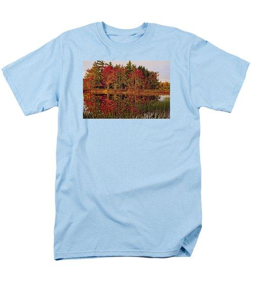 Men's T-Shirt  (Regular Fit) featuring the photograph Reflection Island by Kathleen Sartoris