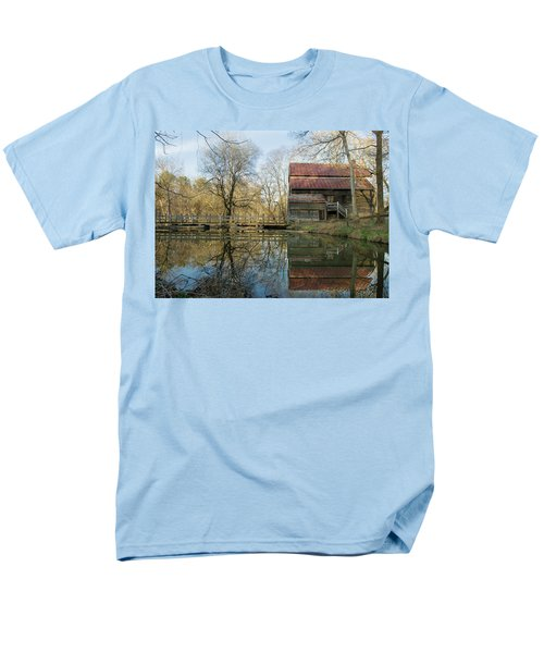 Men's T-Shirt  (Regular Fit) featuring the photograph Reflection On A Grist Mill by George Randy Bass