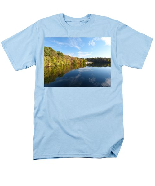 Men's T-Shirt  (Regular Fit) featuring the photograph Reflections Of Autumn by Donald C Morgan