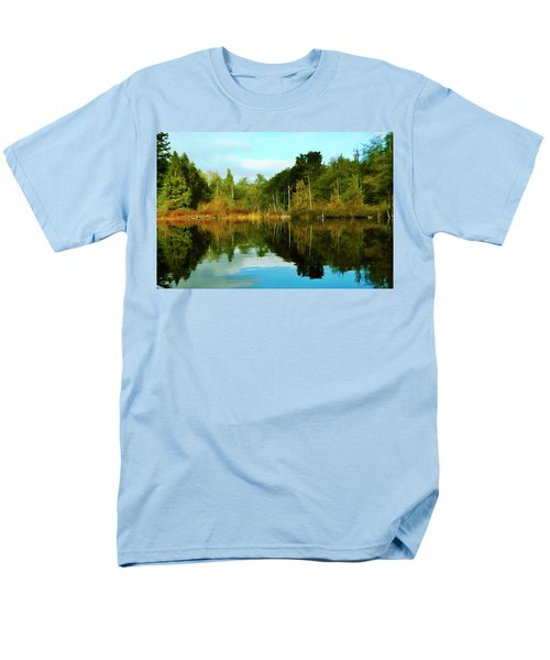Men's T-Shirt  (Regular Fit) featuring the digital art Reflections by Timothy Hack