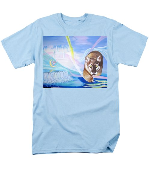 Men's T-Shirt  (Regular Fit) featuring the painting Remembering Childhood Dreams by Phyllis Kaltenbach
