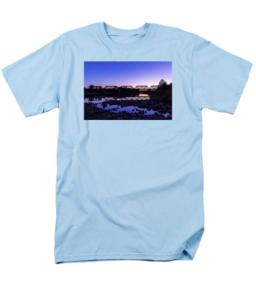 Men's T-Shirt  (Regular Fit) featuring the photograph River Crossing by Alan Raasch