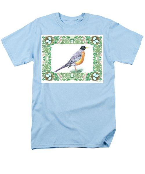 Robin In Spring Men's T-Shirt  (Regular Fit) by Lise Winne