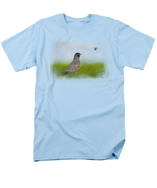 Robin In The Field Men's T-Shirt  (Regular Fit) by Jai Johnson