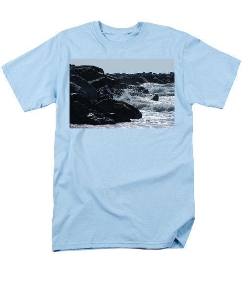 Rocks On The Jetti At Cocoa Beach Men's T-Shirt  (Regular Fit)