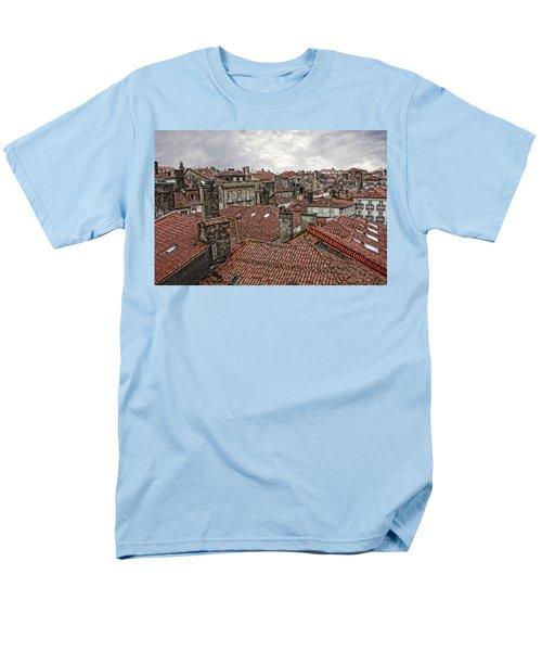 Roofs Over Santiago Men's T-Shirt  (Regular Fit) by Angel Jesus De la Fuente