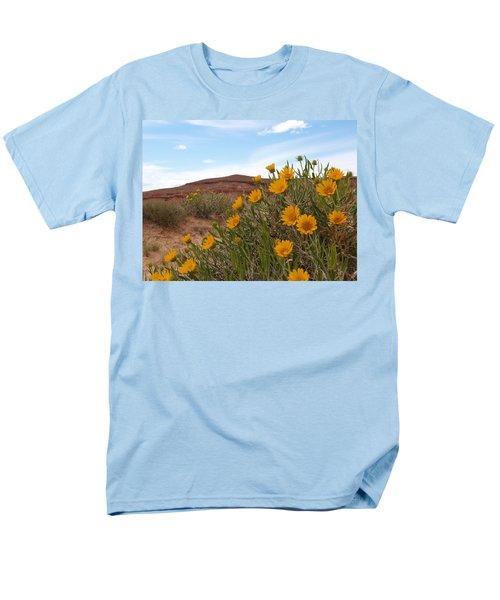 Rough Mulesear Flowers Men's T-Shirt  (Regular Fit) by Jenessa Rahn