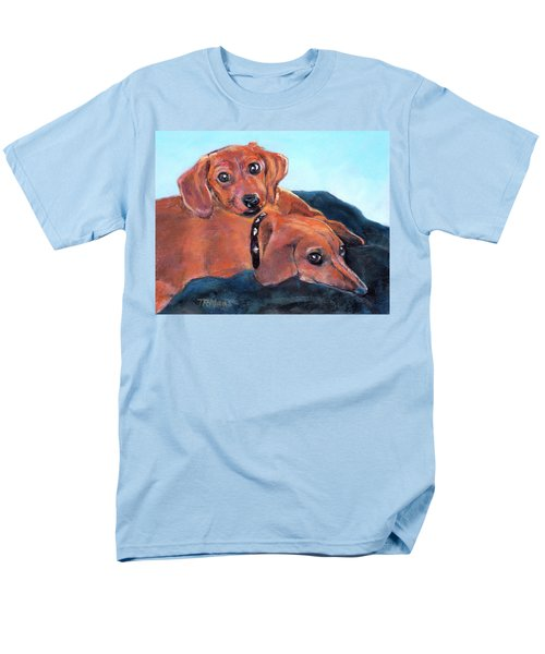 Ruby And Rainbow Men's T-Shirt  (Regular Fit)