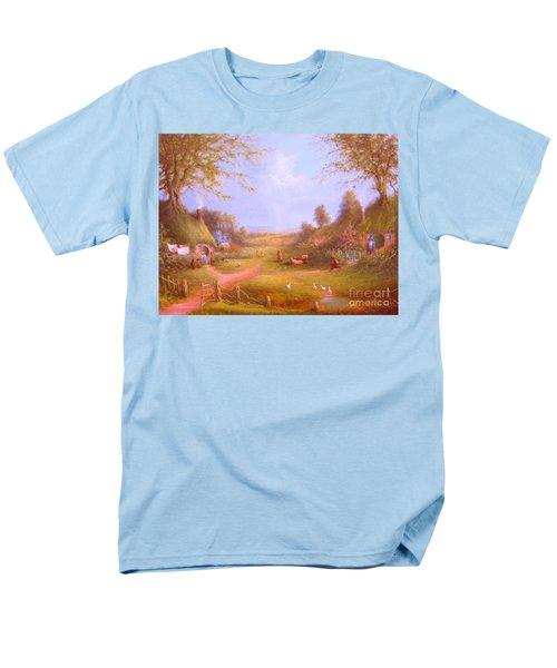 Run Bilbo Late For An Appointment Men's T-Shirt  (Regular Fit) by Joe  Gilronan