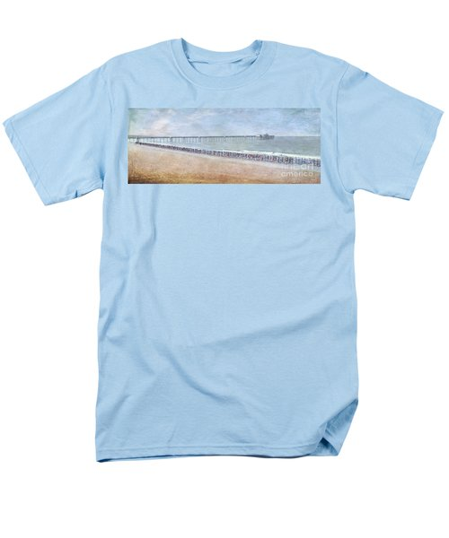 Men's T-Shirt  (Regular Fit) featuring the photograph Runners On The Beach Panorama by David Zanzinger
