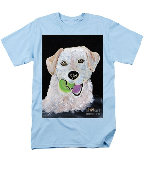Men's T-Shirt  (Regular Fit) featuring the painting Rusty On Canvas by Janice Rae Pariza