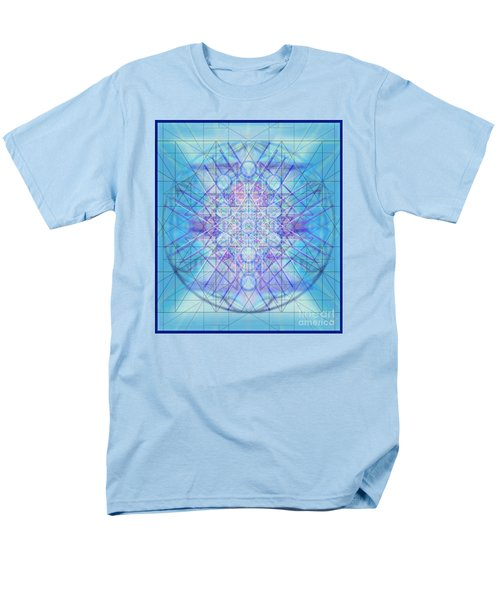 Men's T-Shirt  (Regular Fit) featuring the digital art Sacred Symbols Out Of The Void A3c by Christopher Pringer