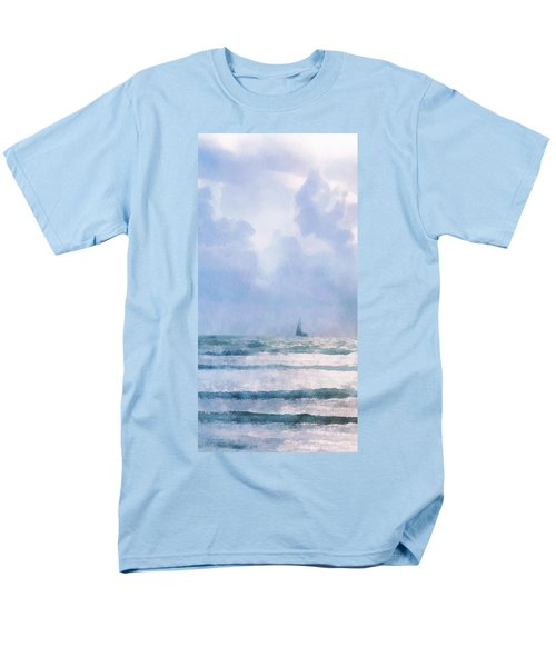 Men's T-Shirt  (Regular Fit) featuring the digital art Sail At Sea by Francesa Miller