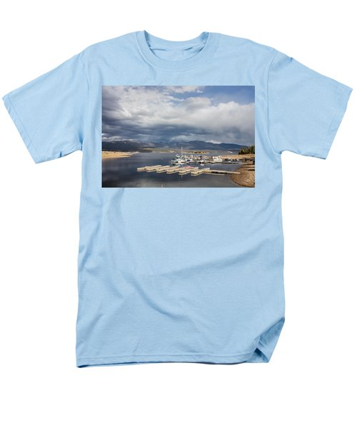 Men's T-Shirt  (Regular Fit) featuring the photograph Sailboat Slips On Lake Granby In Grand County by Carol M Highsmith
