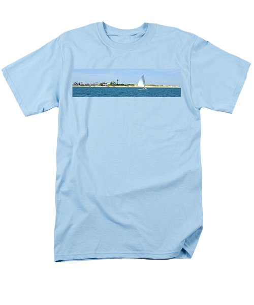 Sailing Around Barnstable Harbor Men's T-Shirt  (Regular Fit) by Charles Harden
