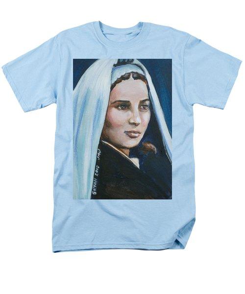 Saint Bernadette Soubirous Men's T-Shirt  (Regular Fit) by Bryan Bustard