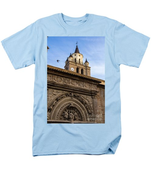 Men's T-Shirt  (Regular Fit) featuring the photograph Saint Hieronymus Facade Of Calahorra Cathedral by RicardMN Photography