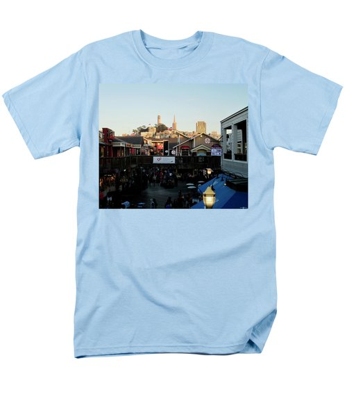 Men's T-Shirt  (Regular Fit) featuring the photograph San Francisco In The Sun by Tony Mathews