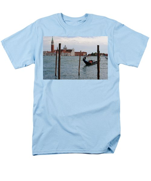 Men's T-Shirt  (Regular Fit) featuring the photograph San Giorgio Maggiore Gondola by Robert Moss