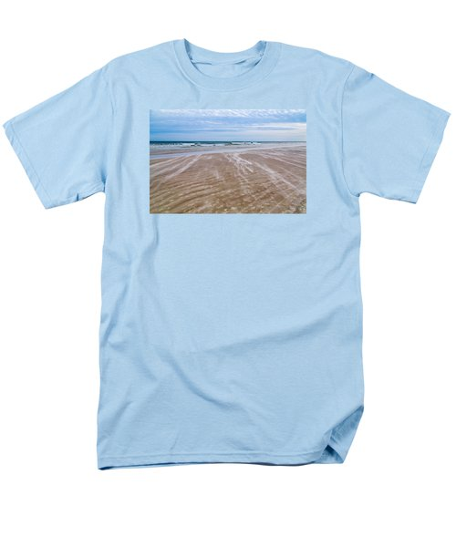 Men's T-Shirt  (Regular Fit) featuring the photograph Sand Swirls On The Beach by John M Bailey