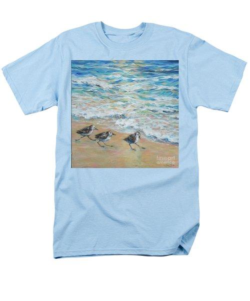 Sanderlings Running Men's T-Shirt  (Regular Fit) by Linda Olsen