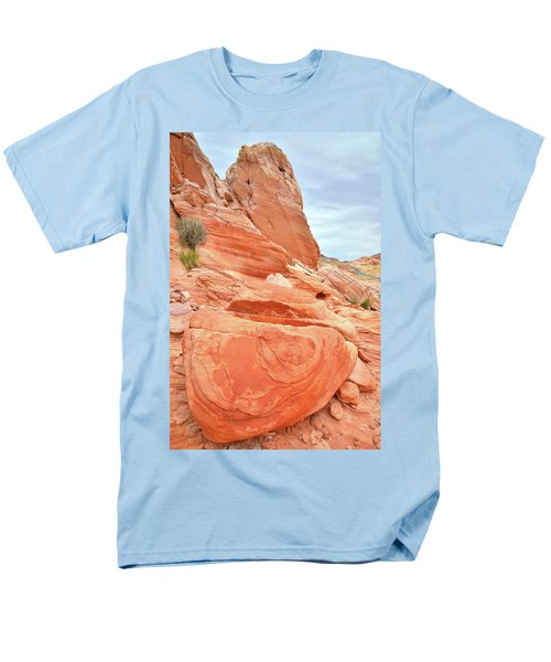 Men's T-Shirt  (Regular Fit) featuring the photograph Sandstone Pillar In Valley Of Fire by Ray Mathis