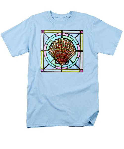 Men's T-Shirt  (Regular Fit) featuring the painting Scallop Shell 1 by Jim Harris