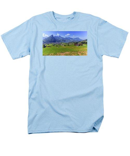Schwyz And Zurich Canton View, Switzerland Men's T-Shirt  (Regular Fit) by Elenarts - Elena Duvernay photo