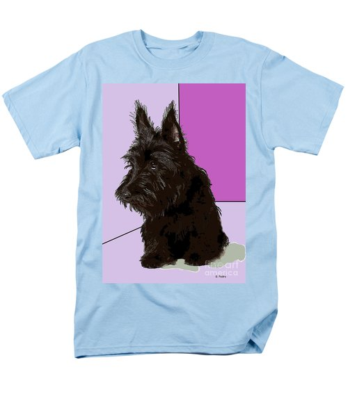 Scottish Terrier Men's T-Shirt  (Regular Fit) by George Pedro