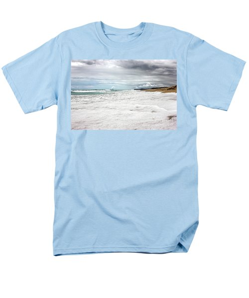 Men's T-Shirt  (Regular Fit) featuring the photograph Sea Foam And Clouds By Kaye Menner by Kaye Menner