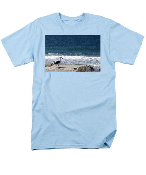 Men's T-Shirt  (Regular Fit) featuring the photograph Seagull  by Christopher Woods