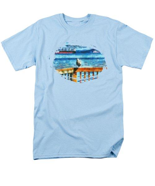 Seagull In Astoria  Men's T-Shirt  (Regular Fit)