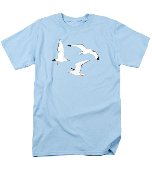 Seagulls Gathering At The Cricket Men's T-Shirt  (Regular Fit) by Elizabeth Tuck