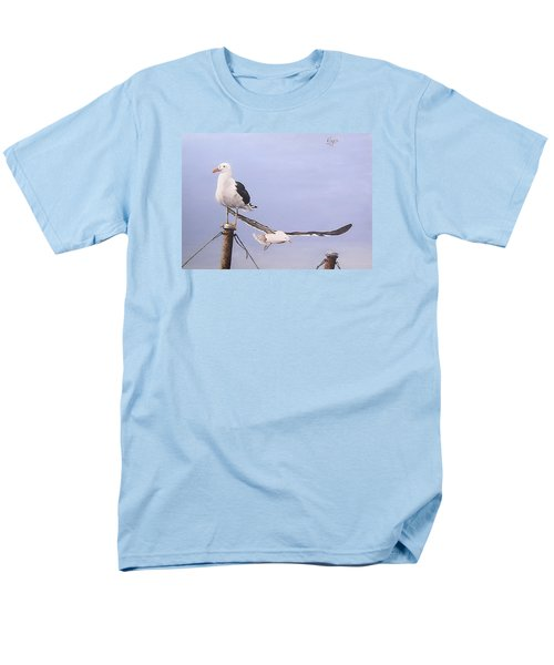 Men's T-Shirt  (Regular Fit) featuring the painting Seagulls by Natalia Tejera