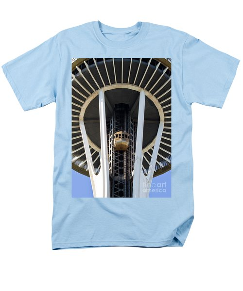 Men's T-Shirt  (Regular Fit) featuring the photograph Seattle Space Needle Elevator by Chris Dutton