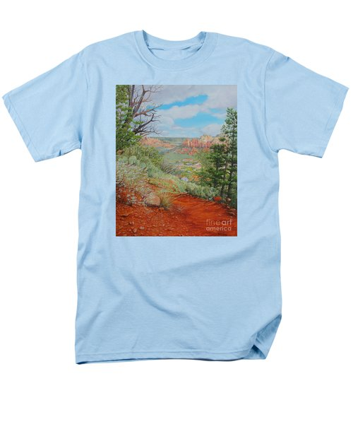 Sedona Trail Men's T-Shirt  (Regular Fit) by Mike Ivey