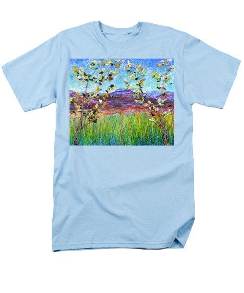 Sentries Diptych Men's T-Shirt  (Regular Fit) by Regina Valluzzi