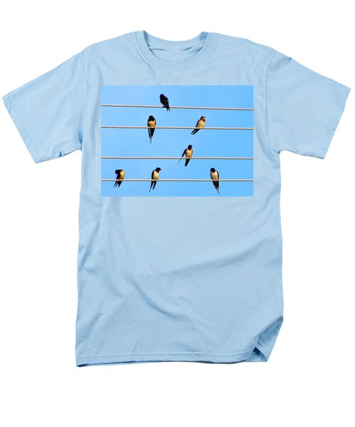 Men's T-Shirt  (Regular Fit) featuring the photograph Seven Swallows by Ana Maria Edulescu
