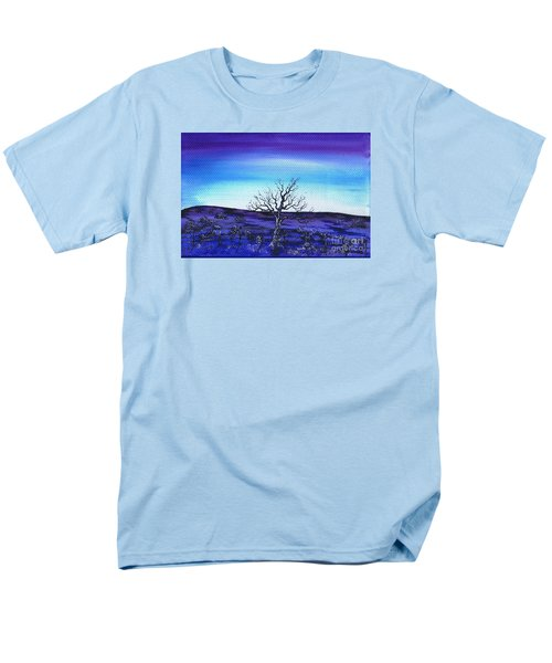 Men's T-Shirt  (Regular Fit) featuring the painting Shades Of Blue by Kenneth Clarke