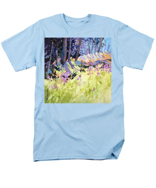 Men's T-Shirt  (Regular Fit) featuring the painting Shadow Dance Alaska by Rae Andrews