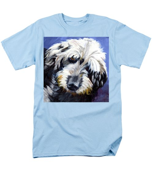 Shaggy Dog Portrait Men's T-Shirt  (Regular Fit) by Alice Leggett