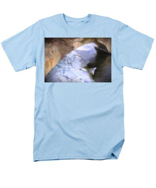 Shelburne Falls River Ice Men's T-Shirt  (Regular Fit) by Tom Singleton