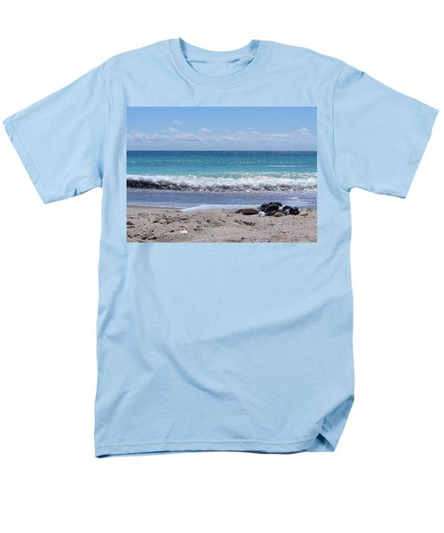Men's T-Shirt  (Regular Fit) featuring the photograph Shells On The Beach by Sandi OReilly
