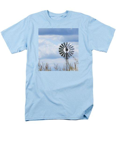 Shiny Windmill Men's T-Shirt  (Regular Fit) by Jeanette Oberholtzer