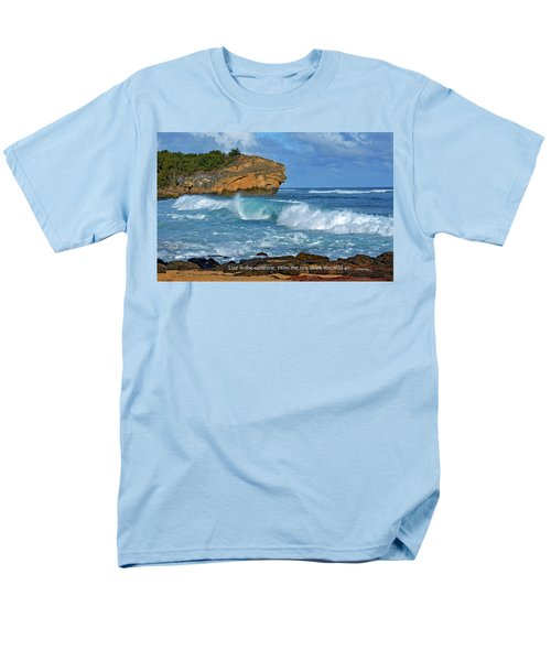 Shipwreck Beach Shorebreaks 2 Men's T-Shirt  (Regular Fit) by Marie Hicks
