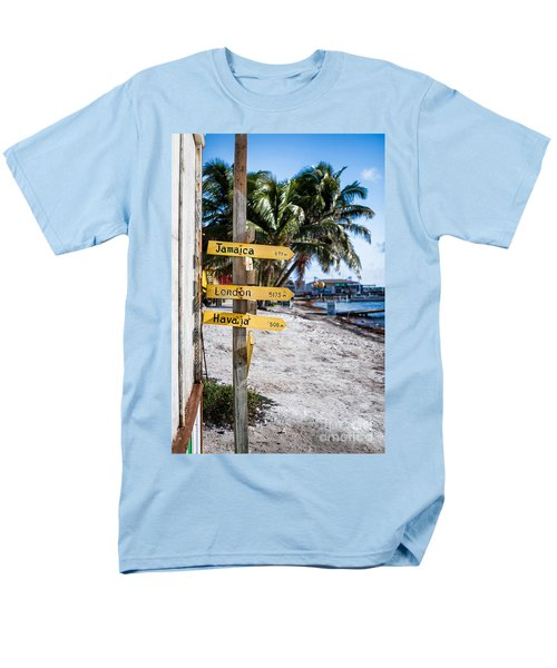 Men's T-Shirt  (Regular Fit) featuring the photograph Signs by Lawrence Burry