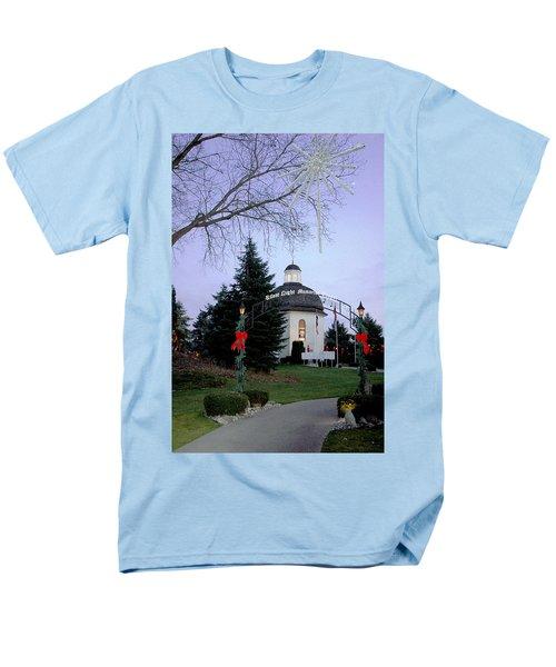 Silent Night Chapel Men's T-Shirt  (Regular Fit) by LeeAnn McLaneGoetz McLaneGoetzStudioLLCcom